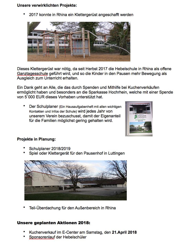 Förderverein Hebelschule Laufenburg Klettergerüst Rhina 2